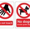 9種類のいろいろな禁止標識。無料ベクターイラスト素材