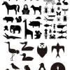 干支、十二支を含むシンプルな動物の無料ベクターシルエット素材(49種類)