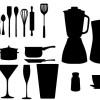 キッチンツールのベクターシルエット素材