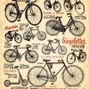 フリーベクター!レトロな自転車のクリップアート集