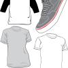 無料ベクタークリップアート素材。Tシャツ&スニーカー
