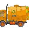 手書きで可愛いゴミ収集車。無料ベクターイラスト素材