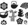 日本らしい14個のベクター無料シルエット素材
