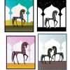おしゃれな馬のイラスト素材。無料ベクター素材
