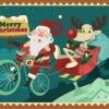ちょっとおちゃめなサンタとトナカイのメリークリスマス無料イラスト素材