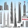 世界の超高層ビルの無料ベクターイラスト素材