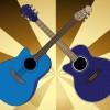 アコースティックギターのベクタークリップアート素材