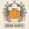 夏と言えばビール!レトロなビールのイラスト素材(無料ベクターデータ)