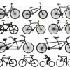 フリーベクターシルエット素材。自転車12種類