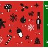 クリスマスの飾りをモチーフにした、かわいいアイコン集。無料ベクターシルエット素材