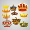 豪華な王冠が10個。無料ベクタークリップアート素材
