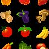 艶があって新鮮に見える野菜やフルーツの無料ベクタークリップアート素材
