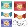 契約成立!握手の無料ベクタークリップアート素材