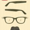 ヒップスター必須アイテム。メガネとヒゲの無料のベクタークリップアート素材