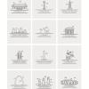 世界のランドマークの高品位なクリップアート素材集(18種類)