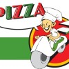 宅配ピザの無料ベクターイラスト素材。