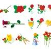 19種類の薔薇のイラスト素材。無料ベクターデータ