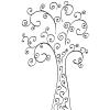 くるくるカールが特徴の木のクリップアートイラスト素材