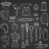 料理・キッチンに関連する手書きのクリップアート集