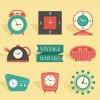8種類のレトロな時計の無料クリップアート素材
