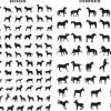 犬と馬のベクターシルエット素材