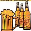 無料ベクタークリップアート。瓶ビールとジョッキ生のイラスト素材