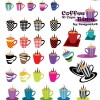 イタリアンテイスト溢れるポップなマグカップ。無料ベクタークリップアート素材