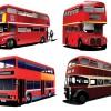 ロンドンバス(赤い2階建てのバス)の無料ベクタークリップアート素材