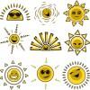 アニメ風!太陽の無料ベクタークリップアート素材