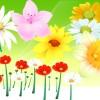 ガーベラなど綺麗なお花の無料ベクタークリップアート素材