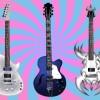 超クールなエレキギター無料ベクタークリップアート素材3種類