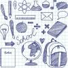 学校やビジネス系の手書きスケッチ風無料ベクタークリップアート素材