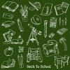 黒板素材と合わせて使いたい学校に関連した無料ベクター手書きクリップアート素材02