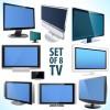 液晶テレビやプラズマテレビなどの薄型テレビの無料ベクターイラスト素材