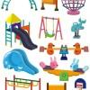 滑り台やブランコなど子供の遊具の無料ベクタークリップアート集