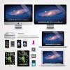 フリーベクターイラスト。Apple製品のクリップアート素材(iMac, iPhone, iPad, iPod, Macbook, ディスプレイ)