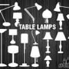 25個スタンドランプ(照明)の無料ベクターシルエット素材
