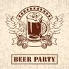 夏と言えばビール!ヴィンテージなビールのイラスト素材(無料ベクターデータ)