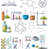 化学の実験室に関係するアイテム集。無料ベクタークリップアート