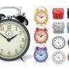 無料ベクタークリップアート。目覚まし時計と壁掛け時計