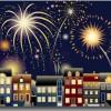 近頃は夏だけで無く新年の風物詩にもなりつつある花火の無料ベクターイラスト素材