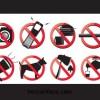 8種類のいろいろな禁止標識。無料ベクターイラスト素材