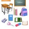 学校に関連するアイテムのクリップアート素材