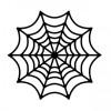 蜘蛛の巣の無料ベクターシルエット素材