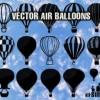 無料でダウンロード出来る19種類の気球のベクターシルエット素材