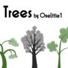 独特な雰囲気のアートなツリーのイラスト素材
