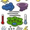 ポップな天気予報の無料ベクターイラスト素材