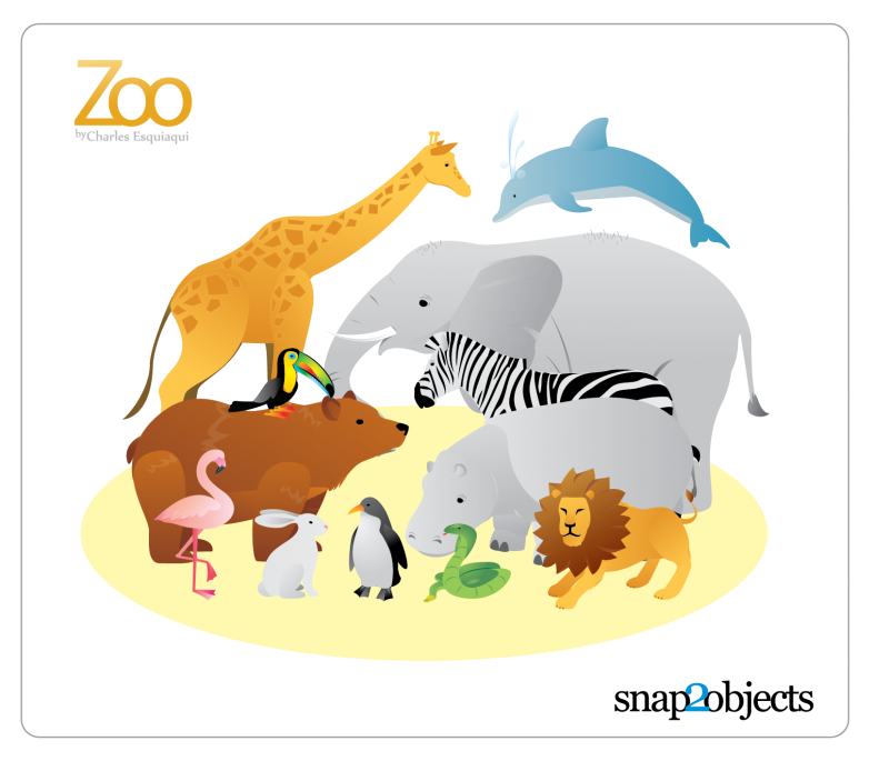 12-free-vector-zoo-animals シンプルでクールな動物の無料ベクタークリップアート素材