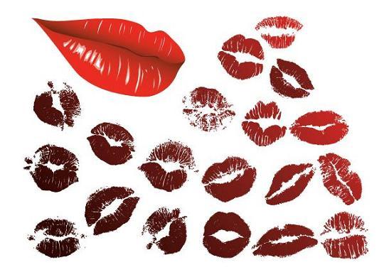 20-vector-lips キスマーク(唇)の無料ベクターイラスト素材