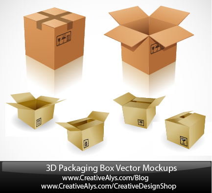 3D-Packaging-box-vector-mockups-011 6種類のダンボール箱の無料ベクタークリップアート素材